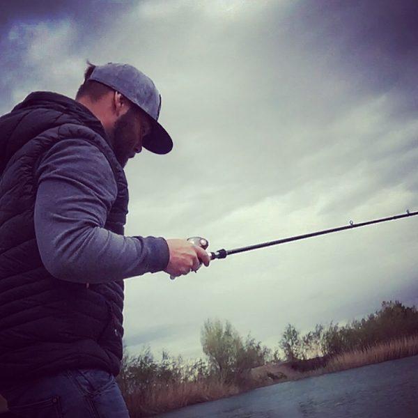 fischen mit einer Baitcaster